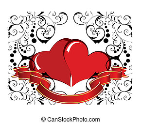 valentine background - St. Valentine Day greeting card with...