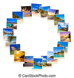 Frame made of summer beach maldives images - nature and...