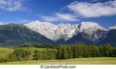 Austrian Alps - Panoramic time-lapse of Tirol landscape with...