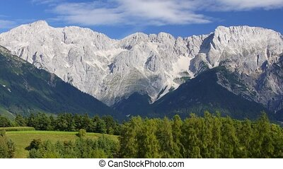Tirol mountain range - Panoramic time-lapse of Tirol...