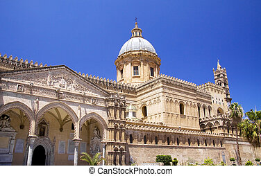 Cathedral of Palermo in Italy build in various styles from...