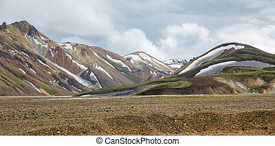 Landmannalaugar unbelievable landscape in Iceland - Wide...