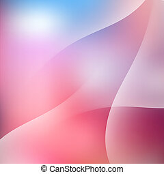 Soft Light Waves Sky Background Vector Illustration