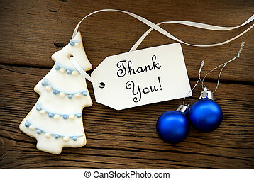 Christmas Background with Thank You - Christmas or Winter...