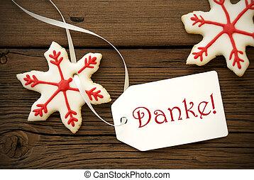 danke, Galletas, estrella, navidad