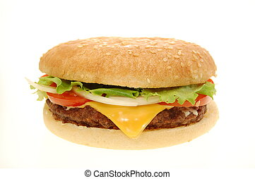 Cheeseburger - Burger isolated on a white background