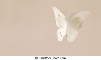 Single Paper butterflies - Hanging under ceiling paper...