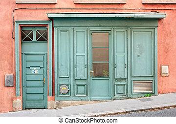 Old door - Old wooden door at city of Lyon