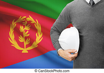 Architect with flag on background  - Eritrea