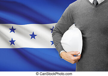 Architect with flag on background  - Honduras