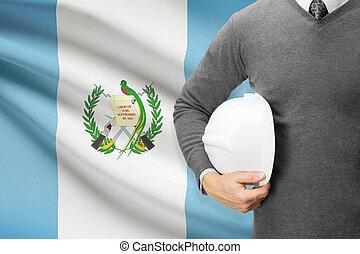 arquitecto, bandera, Plano de fondo, -, guatemala