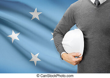 Architect with flag on background - Federated States of...
