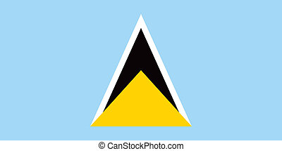 Saint Lucia flag - Vector Saint Lucia flag