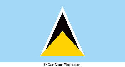 Saint Lucia flag - Vector Saint Lucia flag