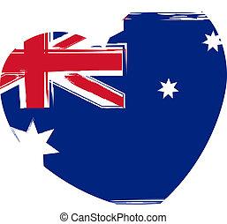 Australia flag in heart shape