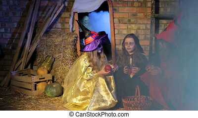 Halloween Ghost Scares Witches