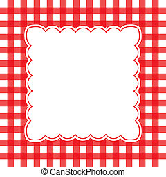 Vector gingham background - Vector illustration of red and...