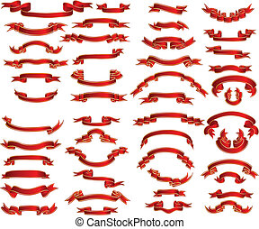 ribbons set - Set of different vector ribbons
