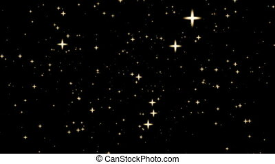 Background with stars in espace