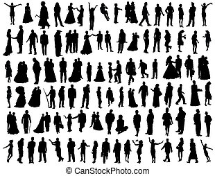 collection of people - Big vector collection of hundred...