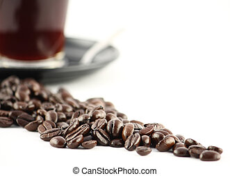 need for caffeine? - Black coffe and coffee beans