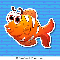 Clownfish - Illustration of a clownfish with background