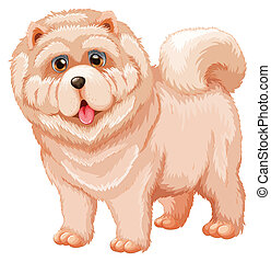 Dog - Illustration of a close up dog