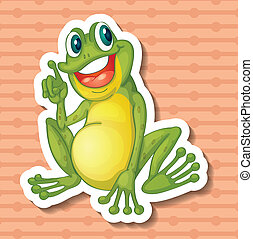 Frog - Illustration of a single frog with background
