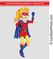 Superhero - Illustration of female superhero