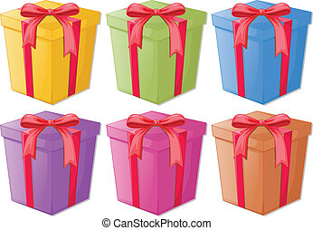 Gifts - Illustration of a set of gifts