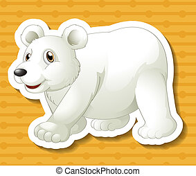 Polar bear - illustration of a polar bear with background