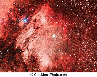 IC5070 Pelican Nebula - nebula imaged with a telecope and a...
