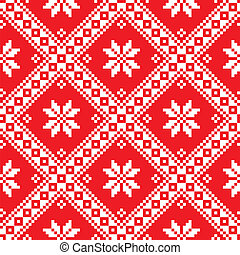 Seamless Ukrainian Slavic folk art - Ethnic pattern from...