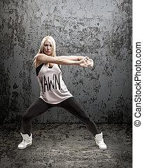 Modern hip-hop dancer