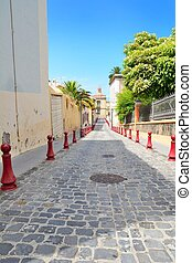 La Orotava, Tenerife - Paved street of the old town La...