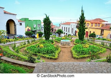 La Orotava, Tenerife - Park in the old town La Orotava in...