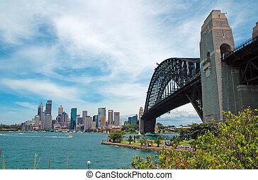 Sydney,  Australia, puerto, Puente