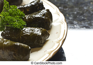 Yaprak Dolma, Stuffed Grape Leaves - Armenian yaprak dolma,...