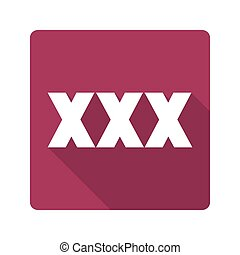 Flat design icon xxx