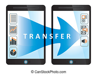 Transfer, communication concept with tablet