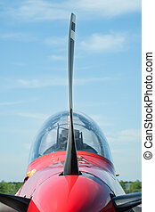 propeller blade - closeup of a light aircraft propeller...