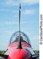 propeller blade - closeup of a light aircraft propeller...