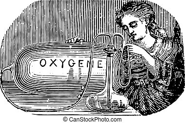 Limousin device to practice oneself inhalation of oxygen,...