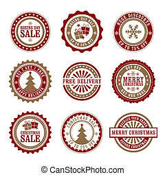 Christmas & Boxing Day Retail Badge - A set of 9 Christmas...