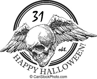 design element for halloween. hand drawn. vector eps 8