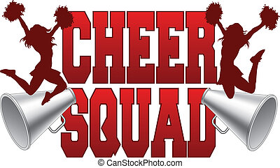 Cheer Squad - Illustration of a cheer squad design for...