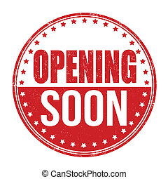 Opening soon stamp - Opening soon grunge rubber stamp on...