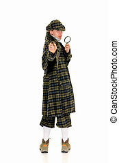 Sherlock Holmes, crime scene - Young police officer dressed...
