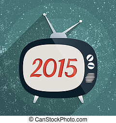 Happy New Year 2015 - 2015 Happy New Year background. Flat...