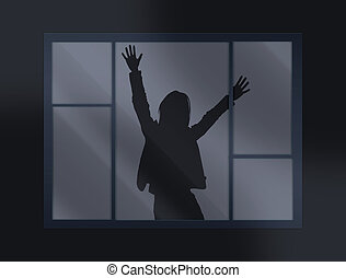 Help - crying loud help behind the closed window